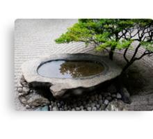 Stone Basin Zen Canvas Print