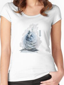 The Game of Kings, Wave Six: The White King-Rook's Pawn Women's Fitted Scoop T-Shirt