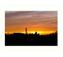 Sunset over South Yarra Station Art Print