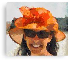 The Orange Hat Canvas Print