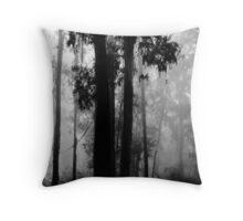 A misty morning Throw Pillow