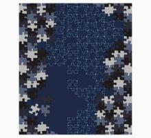 Jigsaw puzzle pieces BLUE Kids Clothes
