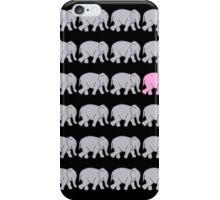 Grey Elephants with One Pink One iPhone Case/Skin