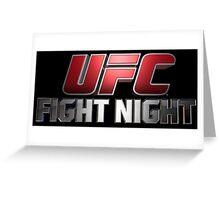 UFC   FIGHT NIGHT   TITLES  Greeting Card