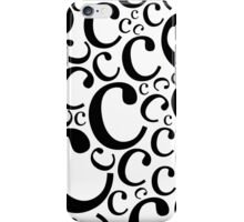 Lowercase Letter C Pattern iPhone Case/Skin