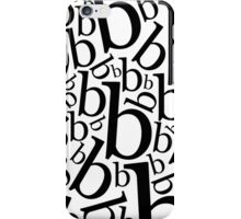 Lowercase Letter B Pattern iPhone Case/Skin