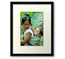 Caring Baby Framed Print