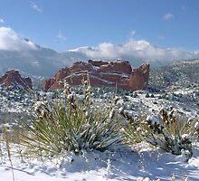 Garden of the Gods under fresh snow by Bob Spath
