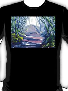 Misty Path Through the Woods T-Shirt