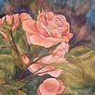 Apricot Roses by Alexandra Felgate