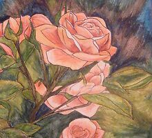 Apricot Roses by Alexandra Felgate