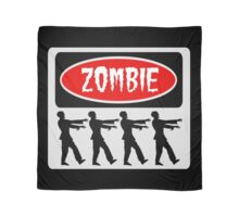 ZOMBIES WALKING IN A LINE, FUNNY DANGER STYLE FAKE SAFETY SIGN Scarf