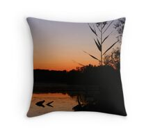 Lone reed Throw Pillow
