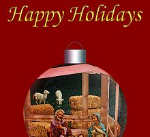 Nativity Christmas Sphere by MaluC