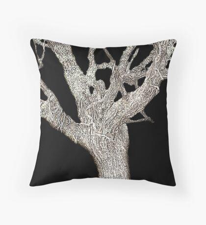 Spectral Tree Throw Pillow