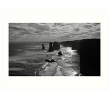 Sunset at the three apostles Art Print