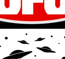 UFO, FUNNY DANGER STYLE FAKE SAFETY SIGN Sticker