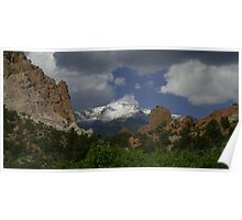 Snow Capped Pikes Peak Panorama Poster