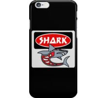 SHARK, FUNNY DANGER STYLE FAKE SAFETY SIGN iPhone Case/Skin