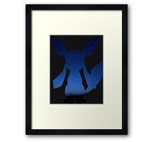 pokemon glaceon ice space anime shirt Framed Print