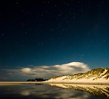 Rarawa beach at night 2 by Paul Mercer