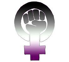 Asexual Feminist by queenbeedigital