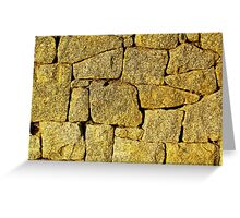 The Retaining Wall of Rosiland Greeting Card