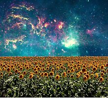 Sunflowers And Space by Emily Lanier