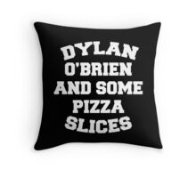 Dylan O'Brien and Some Pizza Slices Throw Pillow