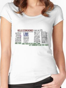 Dr Who Stonehenge Speech typography Women's Fitted Scoop T-Shirt