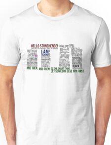 Dr Who Stonehenge Speech typography Unisex T-Shirt