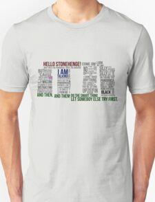 Dr Who Stonehenge Speech typography T-Shirt