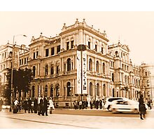 Sepia Downtown Photographic Print