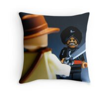 Indy & the soon to be ex-Cairo Swordsman...   Throw Pillow
