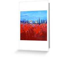 Red Tuscan Study Greeting Card