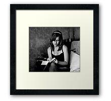 Her Diary Framed Print