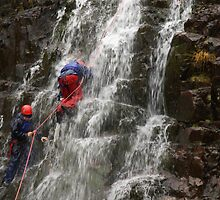 Landscape Waterfall Ascent by Peter  Downing