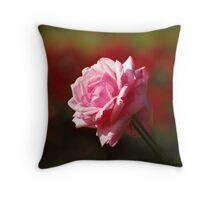Rose Bokeh Throw Pillow