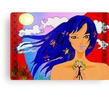 Island girl  Canvas Print