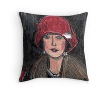 The Red Hat 1920's #1 in a Series Throw Pillow