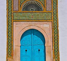 Blue Door surrounded by colourful frame by dhphotography