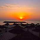 Sun rise over the Mediterranean Sea by dhphotography
