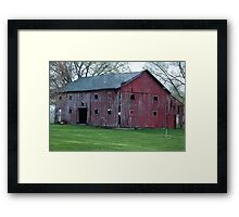Red Barn - Marion, Indiana Framed Print
