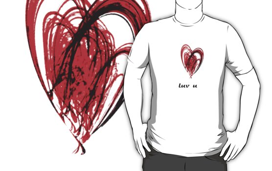 Luv u tee by Agnes McGuinness