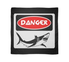 DANGER SHARK, FUNNY FAKE SAFETY SIGN Scarf