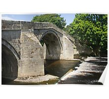 Sandstone Bridge Ilkley Poster