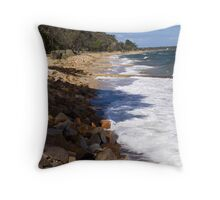 lakes shoreline Throw Pillow