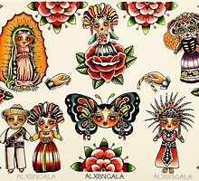 Mexican Dolls Flash Prints by alxbngala