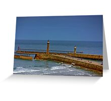 Whitby Harbour Lights Greeting Card