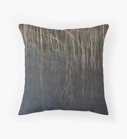 vertical waterlines Throw Pillow